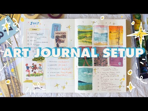 My Art Journal ~ 5 Creative Bullet Journal Ideas °