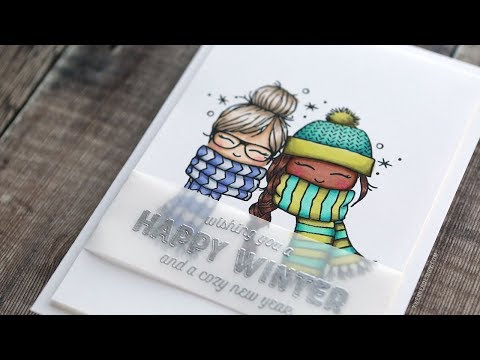 Holiday Card Series 2018 - Day 16 - Cozy Copic Coloring