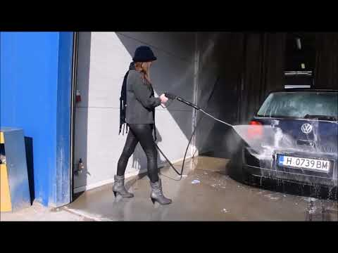 fashionstyle wetlook legging carwash