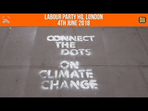 Real Media: Labour HQ spray painted by Heathrow activists