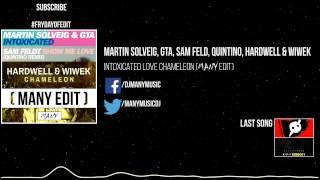 Martin Solveig, GTA, Sam Feld, Quintino, Hardwell & Wiwek - Intoxicated Love Chameleon (Many Edit)