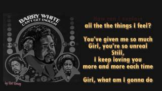BARRY WHITE -  Cant get enough of your love - Instrumental