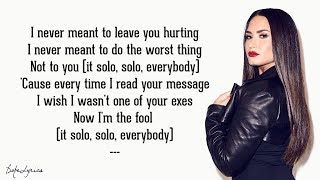Solo - Clean Bandit feat. Demi Lovato (Lyrics)