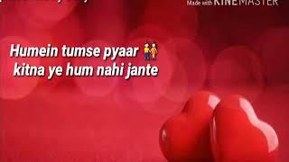 Hume tumse pyaar kitna 👫female version whtsapp video status ..