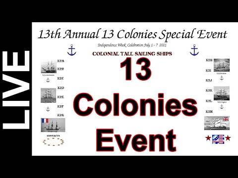 13 Colonies Special Event Stations - July 1st thru July 7th 2021