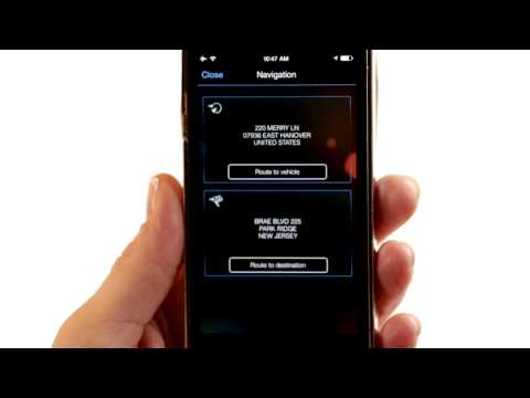 BMW iRemote App: Intermodal Routing