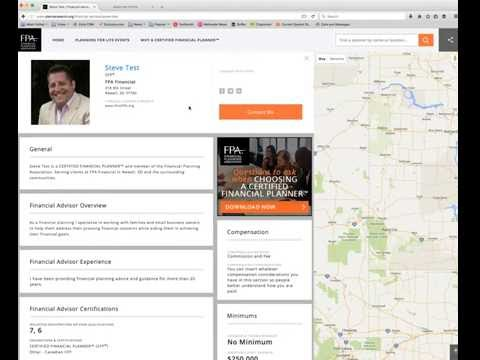 FPA PlannerSearch® Profile Overview