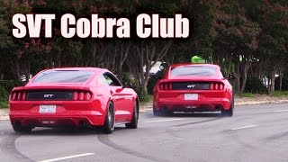Mustangs leaving SVT Cobra Club ★ Parkway Ford Show 2015 (2 of 3)