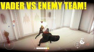 Star Wars Battlefront 2 - Darth Vader fighting the whole team! Vader REALLY Hates Finn XD