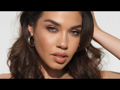 GLOWY PEACH MAKEUP TUTORIAL | Eman