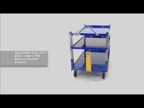 Adjustable Ergo Cart AEC-3660-3-MR