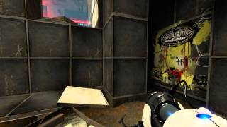 Portal 2: Easteregg in Test Chamber 03: Ratman's Exile (The National - Exile Vilify)