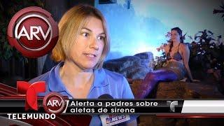 Alerta roja por traje de sirenas para nadar | Al Rojo Vivo | Telemundo
