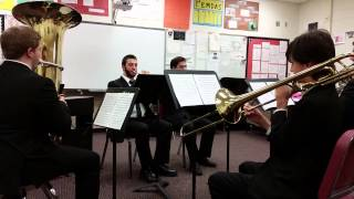 """GP North Brass Quintet: Movement II """"Song without Words"""" Gustav Holst"""