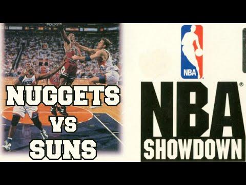 NBA Showdown (1993) - Super Nintendo - Nuggets vs Suns