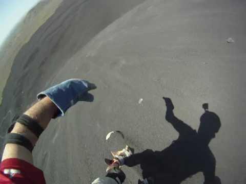 Cerro Negro Volcano Surfing w/GoPro Helmet Cam in Leon, Nicaragua