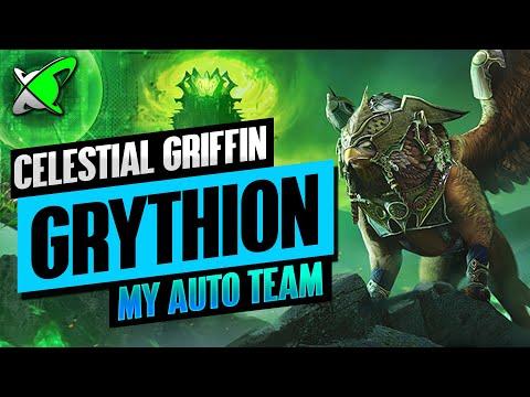 CELESTIAL GRIFFIN GRYTHION | My Full AUTO Hard Floor 90 Team | RAID: Shadow Legends