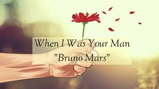 Bruno Mars - When I was Your Man (Animation Video)