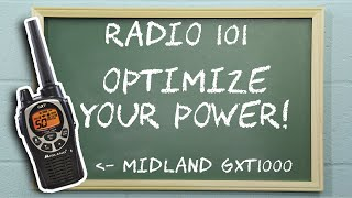 Radio 101 - How to set the power level on a Midland GXT1000