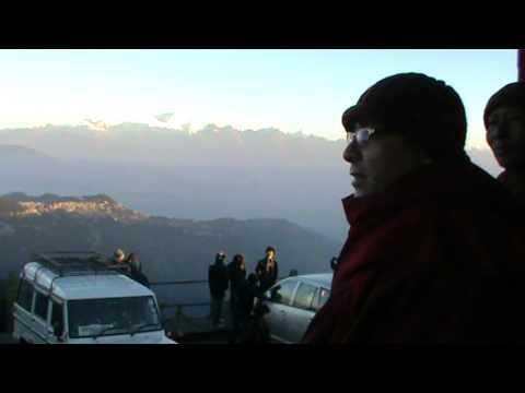 Bhadanta Sopak Sopaka Bhantejyu at Darjelling Tiger Hill on the trip to Lumbini Nepal 2010