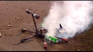 Drone cai, pega FOGO e continua filmando!