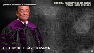 Martial law extension oral arguments