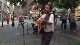 Rolling Stones, Paint it Black (Matt Rose cover) - Busking in the streets of Brussels