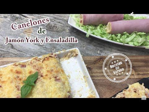 Canalones de Jamón York y Ensaladilla, Receta de Canelones de Verano | Recetas de Cocina 4k