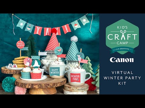 Virtual Winter Party with Friends | Kid's Craft Camp | Canon Live