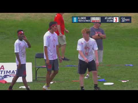 Video Thumbnail: 2018 U.S. Open Club Championships, YCC U-20 Boys' 1/8 Finals: Atlanta ATLiens vs. Illinois Youth Ultimate