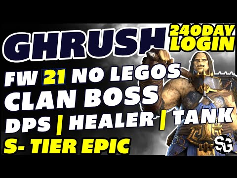 Ghrush FW21 - ALL CONTENT EASY! GHRUSH GUIDE RAID SHADOW LEGENDS GHRUSH REVIEW GRUSH THE MANGLER