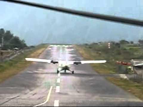 Rickie's Nepal Trip 2007 – Flight took off @ Nepal Lukla Airport