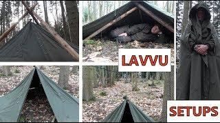 Canvas Polish Lavvu Tent Setups & Polish military tent videos / InfiniTube