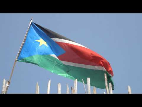 South Sudan flag Juba Africa