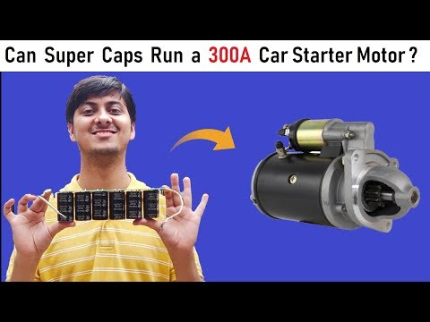 Can we Run 300 Amps Starter DC Motor of a Car with 12v 500F Super Capacitor