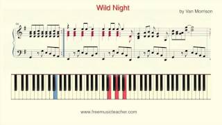 """How To Play Piano: """"Wild Night"""" by Sir George Ivan Morrison"""