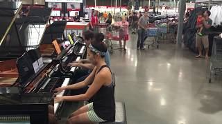 COSTCO PIANO IMPROV: Adele Someone Like You