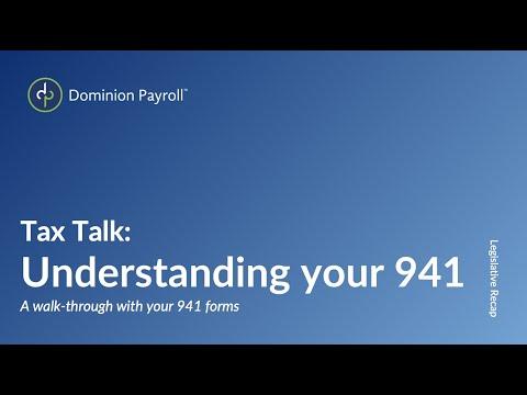 Tax Talk: Understanding Your 941
