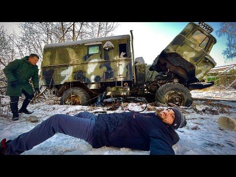 Нашли в лесу военные грузовики
