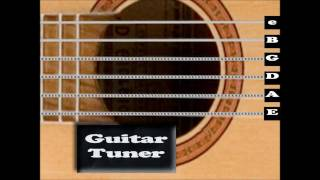 Standard Acoustic Guitar Tuner ( Interactive! )