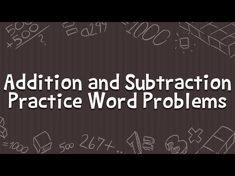 Teach Addition and Subtraction for Kids - Practice Word Problems