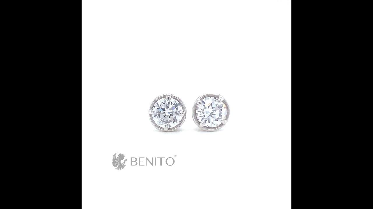 Emma Earrings White Zircon Stone
