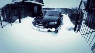 Subaru Outback and Toyota RAV4 offroad snow crazy mud winter Siberian race