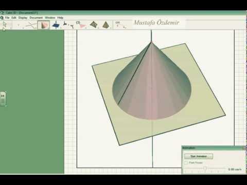 Cabri 3D  Koni Yapımı