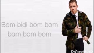 Nick Jonas - Bom Bidi Bom ft. Nicki Minaj (lyrics)
