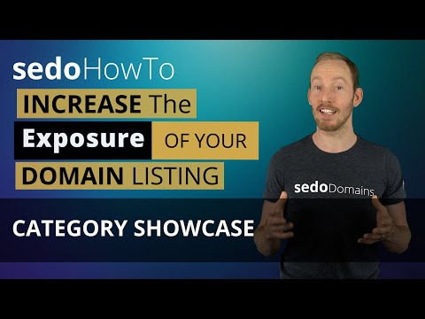 How To Increase the Exposure of your Domain Listing Category Showcase