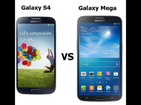 مقارنه Galaxy S4 vs. Galaxy Mega 6.3