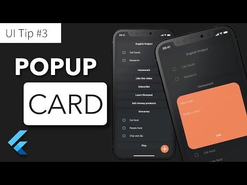 Flutter UI Tip 3: Popup Card