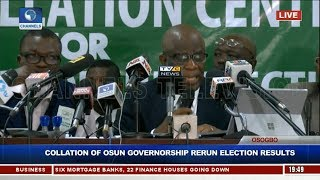 Party Agents Disagree As INEC Begins Collation Of Osun Rerun Election Results Pt.1