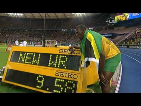 Usain Bolt bije rekord świata - 9.58 na 100 m